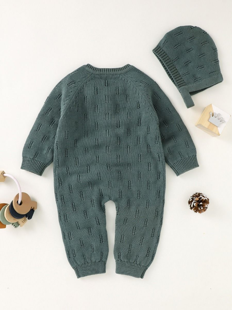 2 piece knitted romper