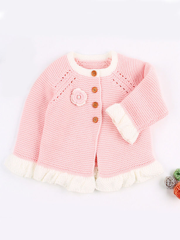 2 piece spanish style knit pink outfit