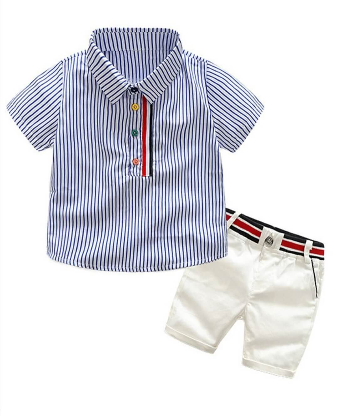 2 piece toddler smart casual shirt for 2 to 3 years