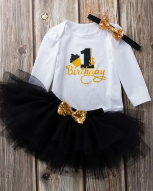 baby 1st birthday black color set for 18 to 24 months