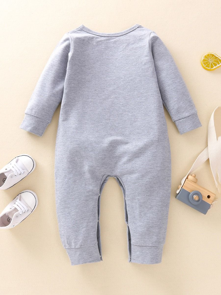 baby bear romper with grey color 3 to 6 months