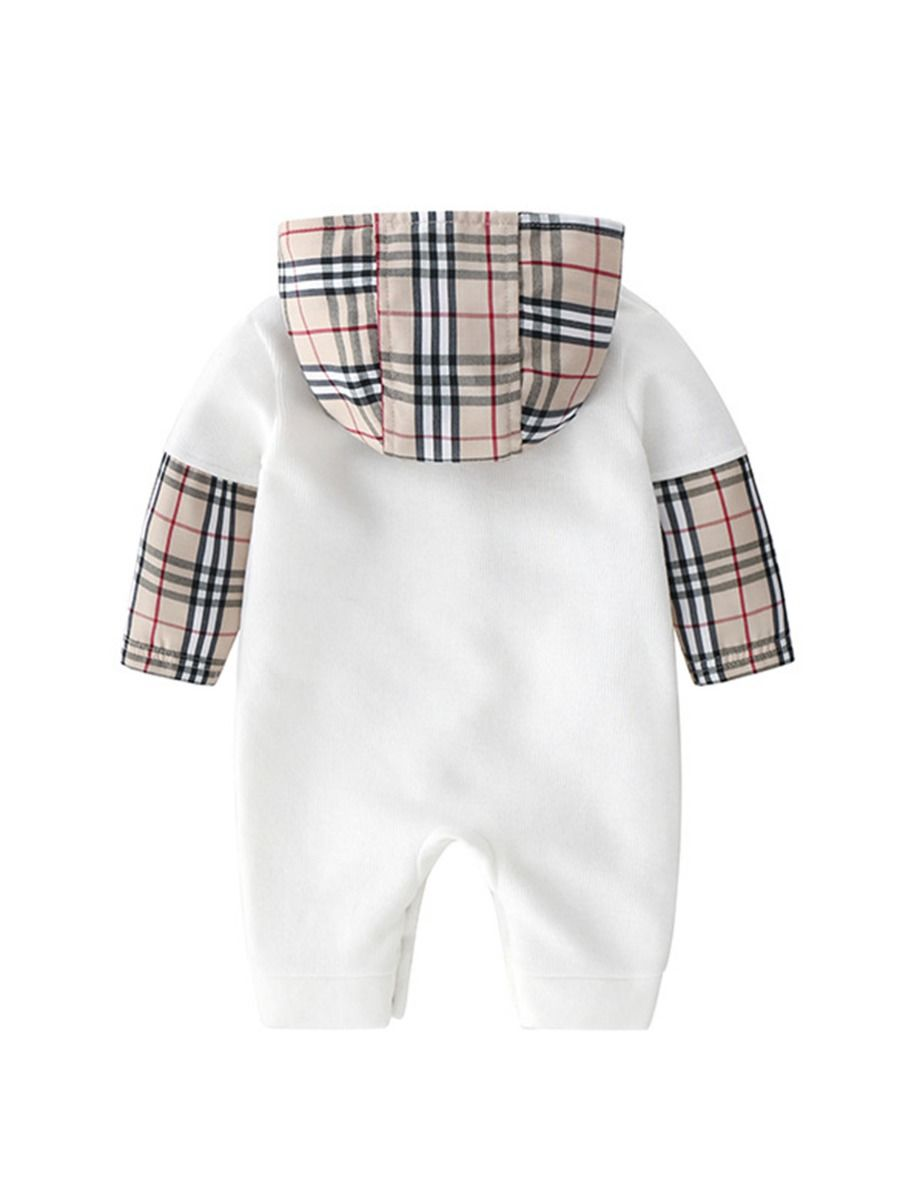 baby boy checked hooded jumpsuit 18 to 24 months