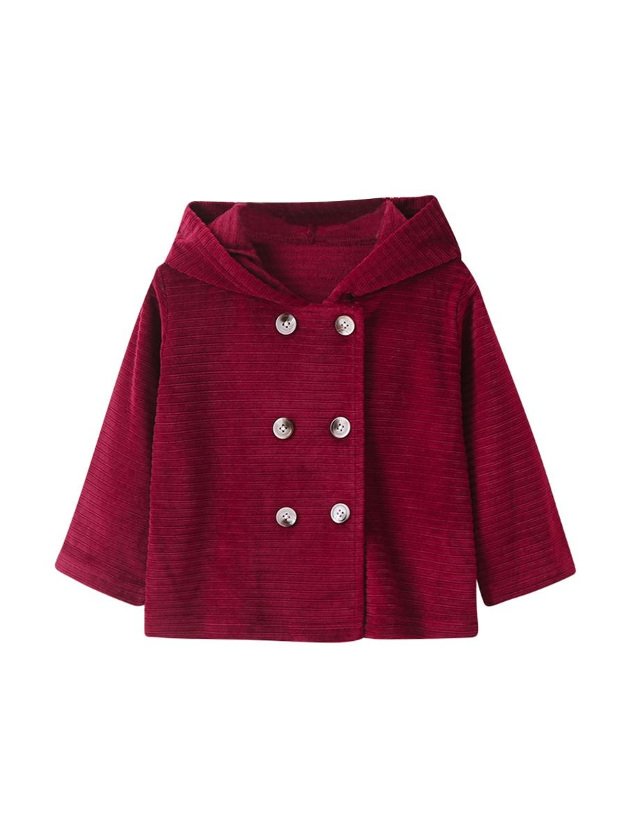 baby girl double breasted coat