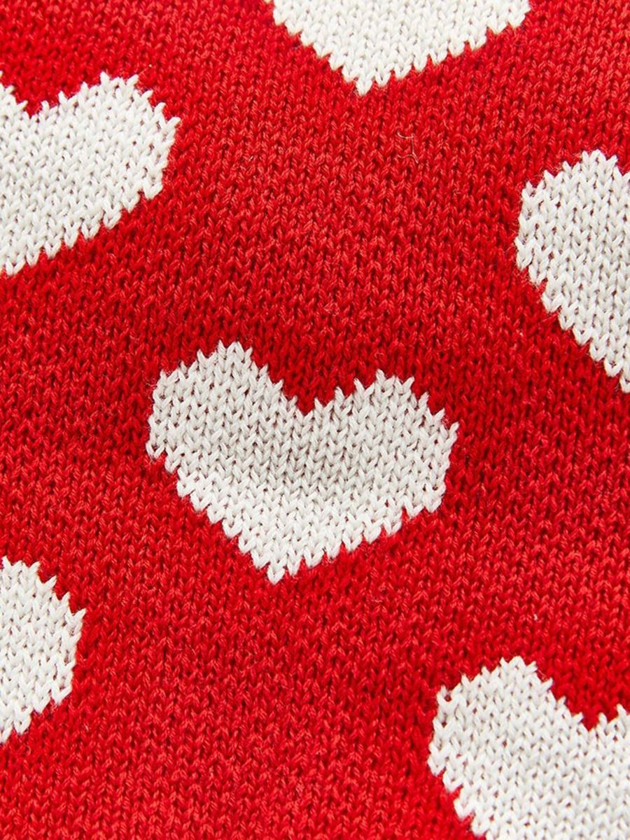 baby girl flounce trim red love heart sweater 18 to 24 months