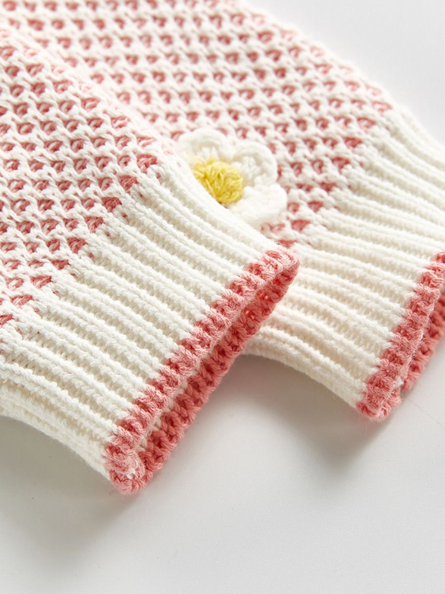 baby girl knitted long sleeve cardigan 6 to 9 months