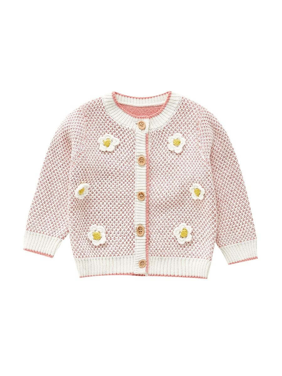 baby girl knitted long sleeve cardigan