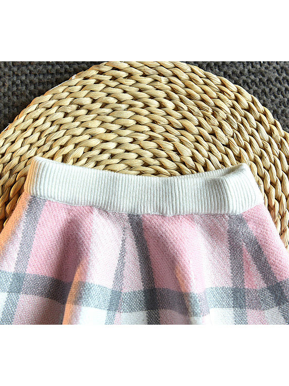 baby girl plaid winter outfit two piece set