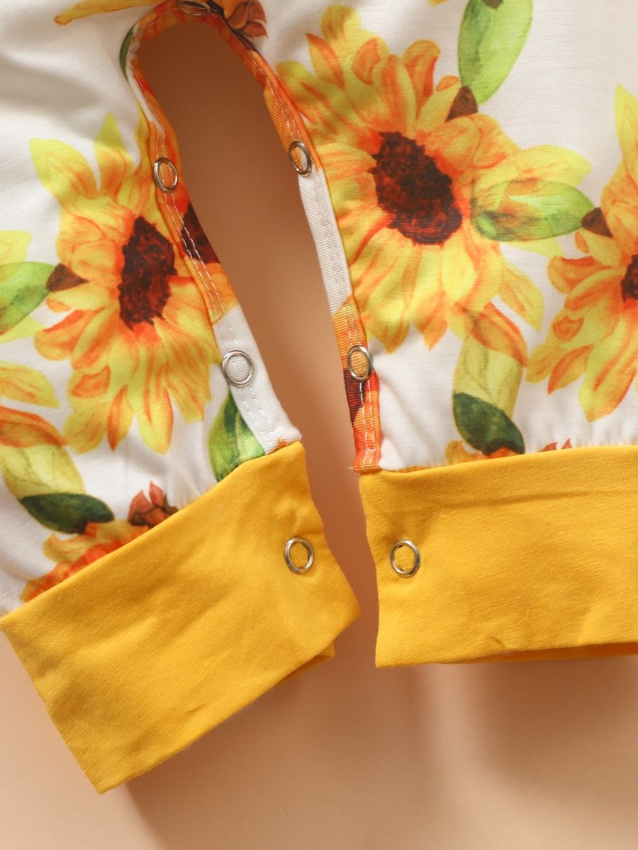 baby sunflower print for 9 to 12 months