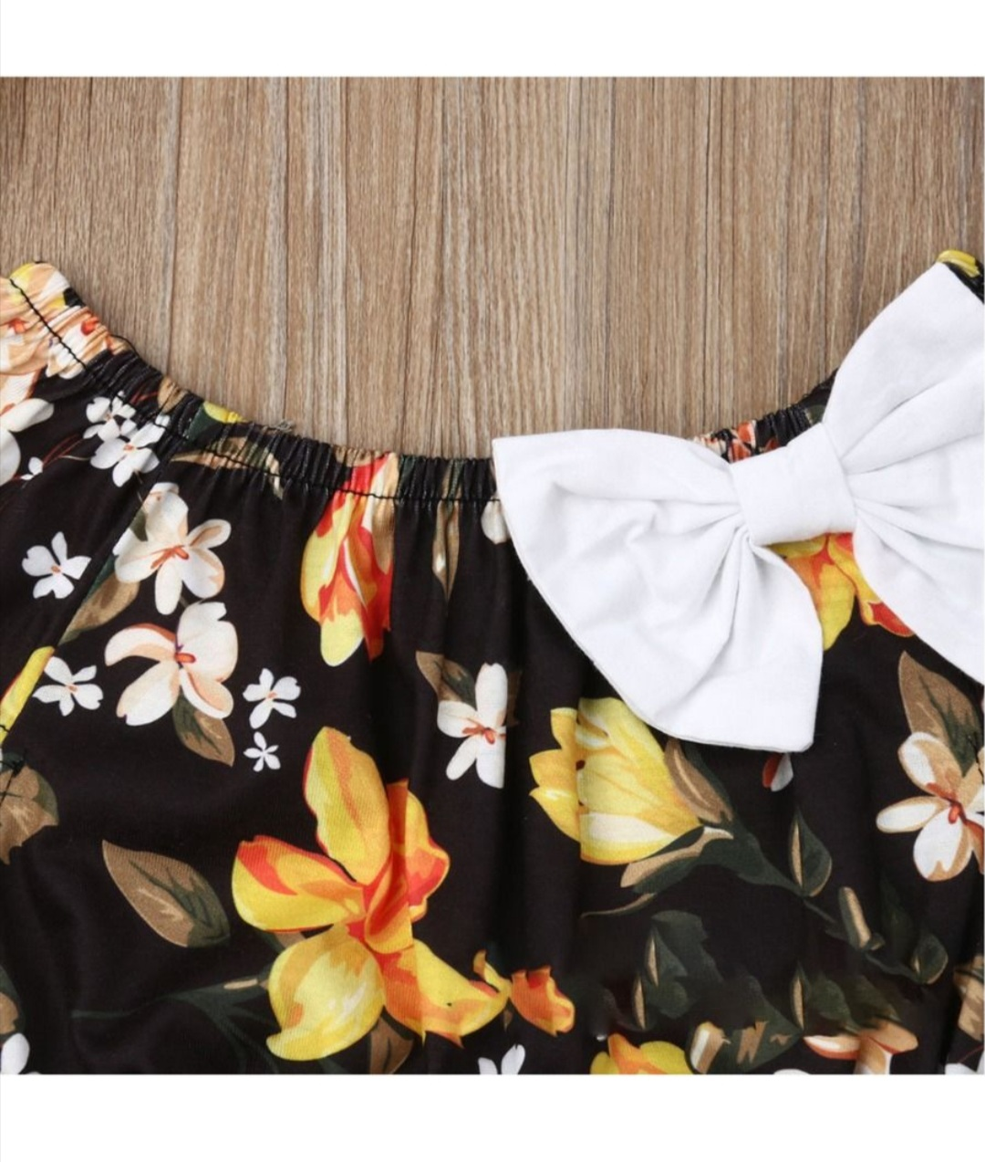 beautiful two piece floral top