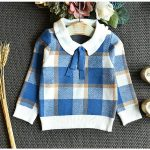 blue two piece plaid winter outfit