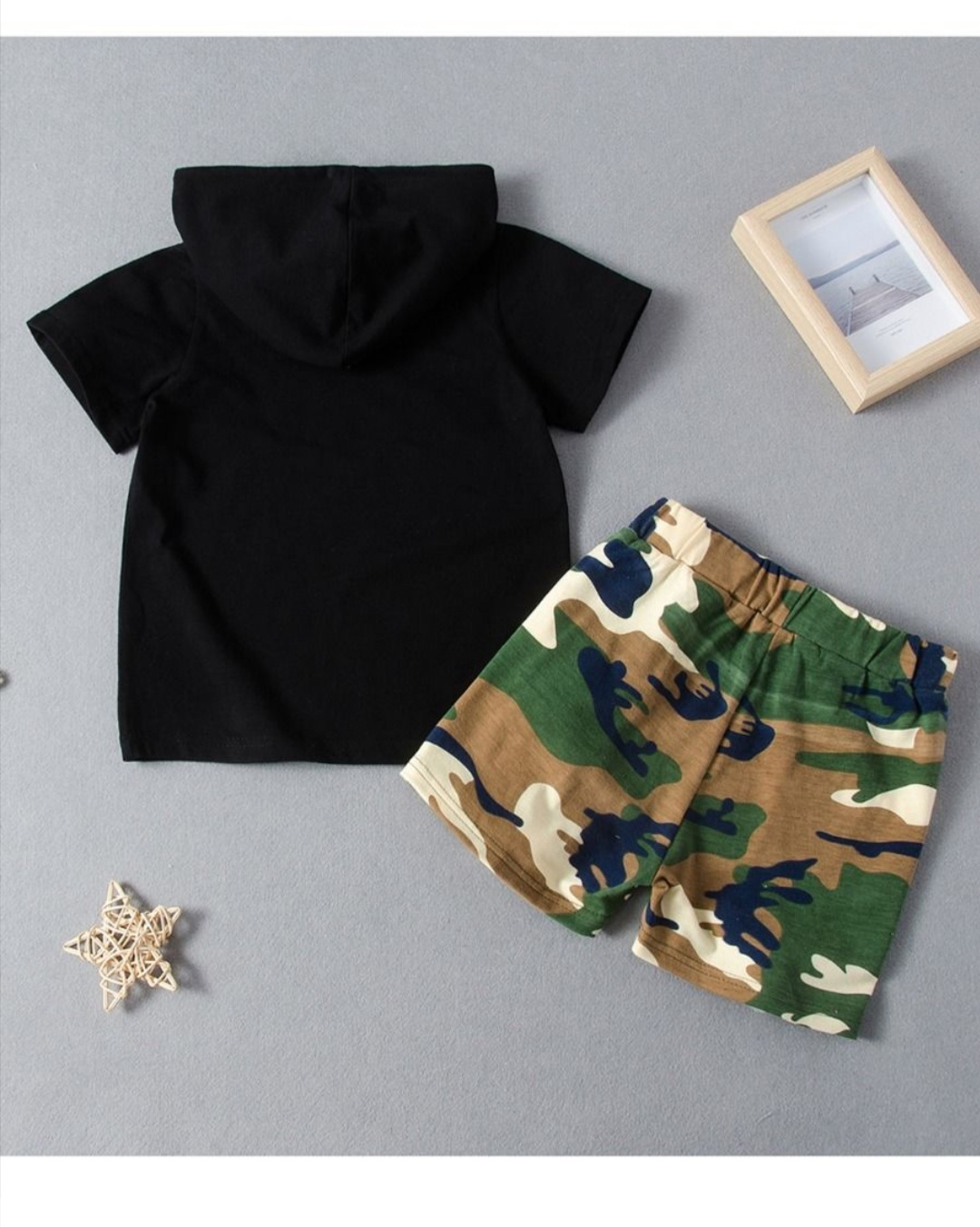boys two piece camouflage set