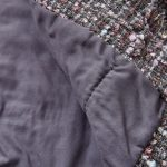 detailed patchwork dress with matching jacket and
