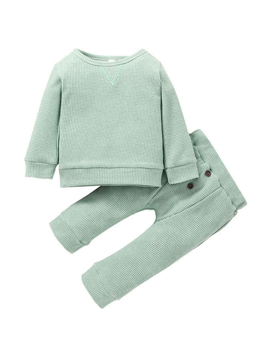 earthy green baby set for 6 to 9 months