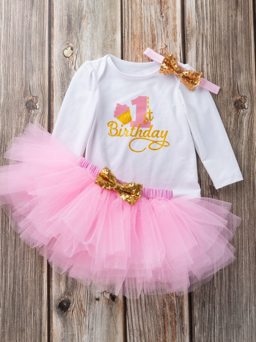 first birthday set for baby girl