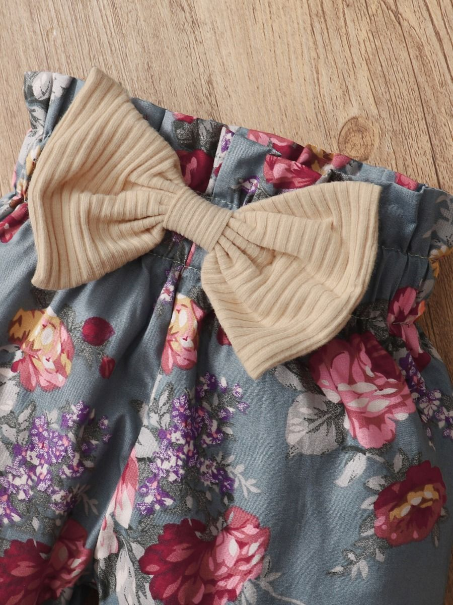 floral baby girl set 12 to 18 months
