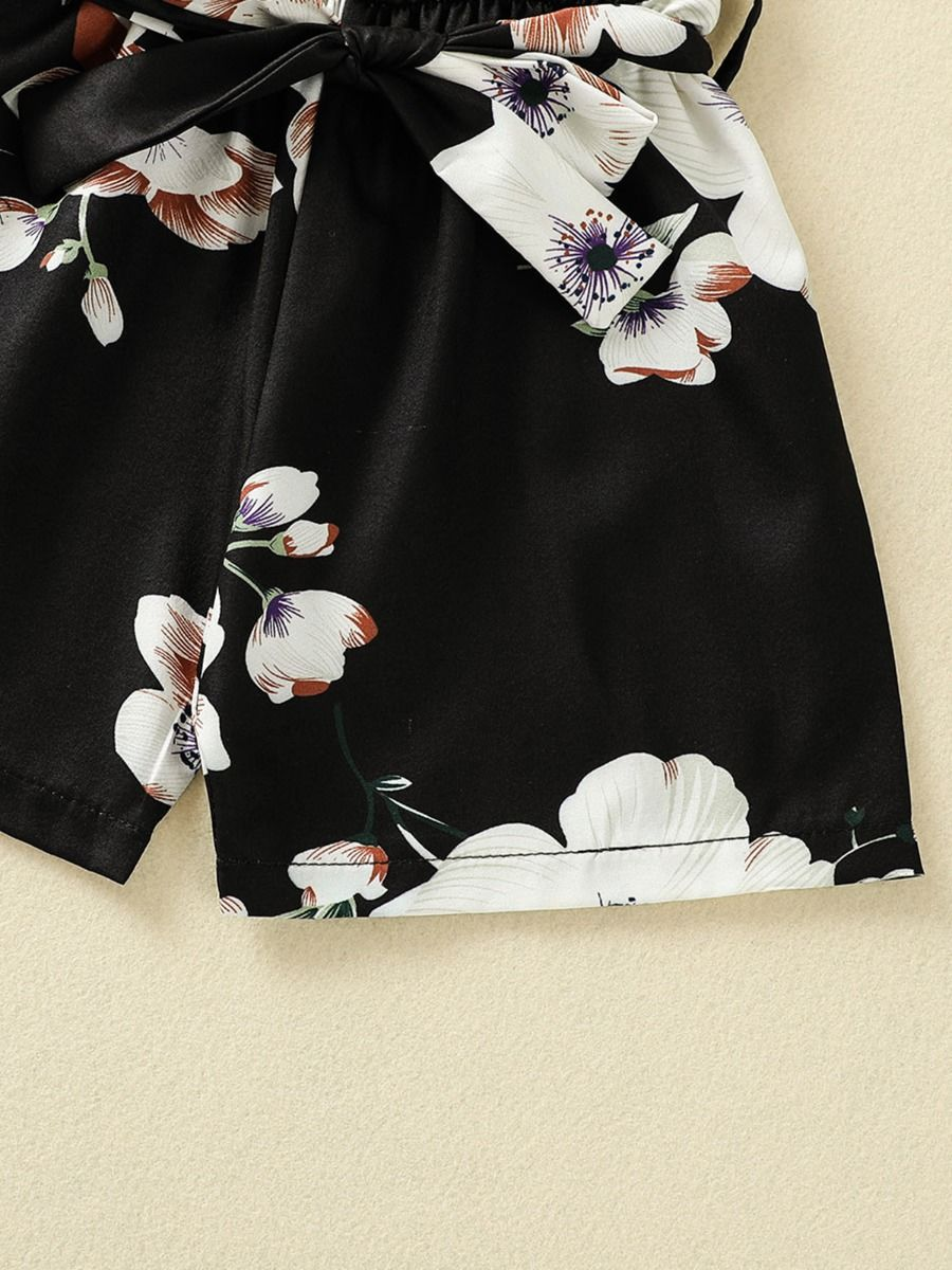 floral girl romper 3 to 4 years