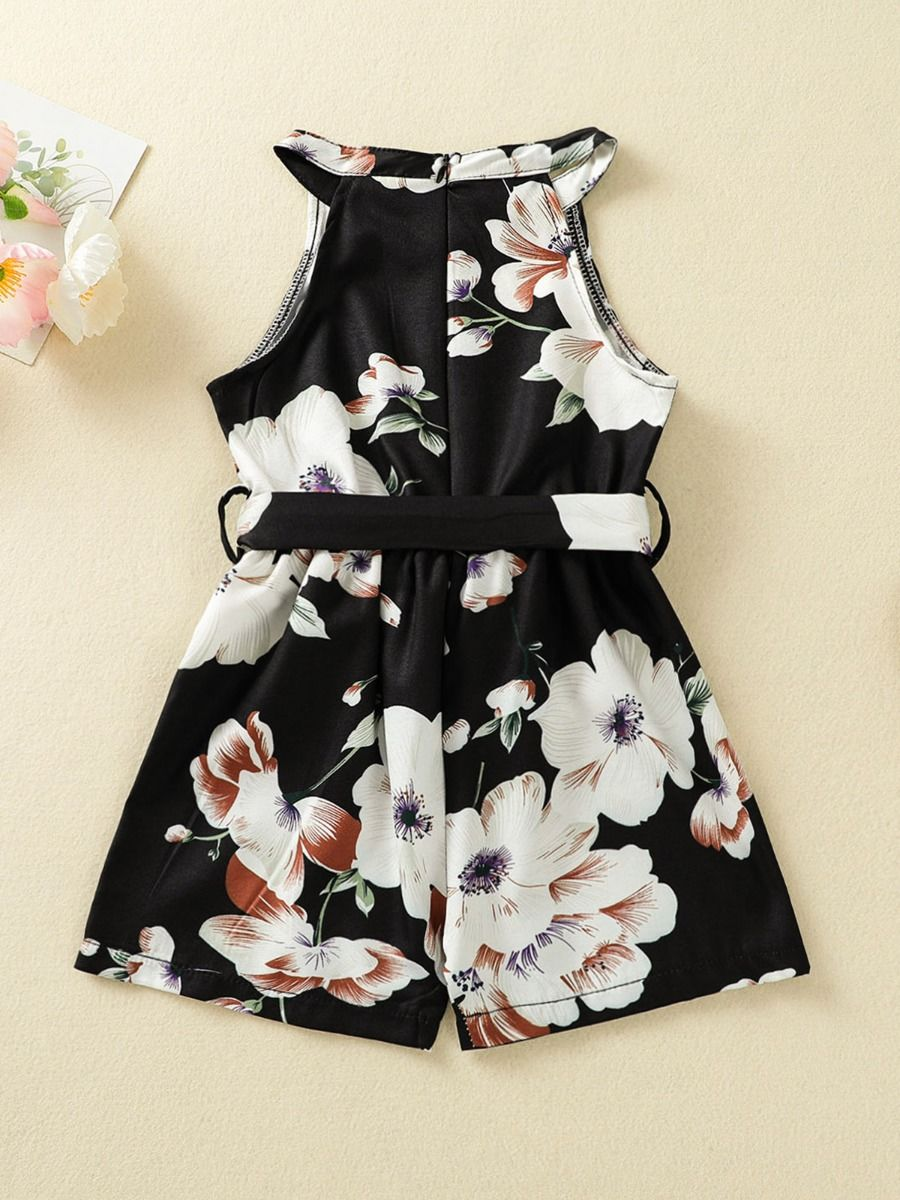 floral girl romper 4 to 5 years