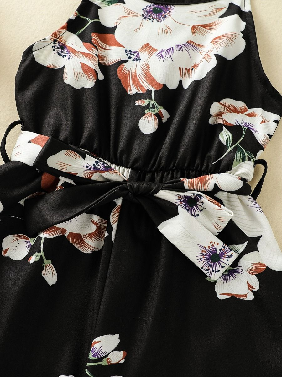 floral girl romper 5 to 6 years
