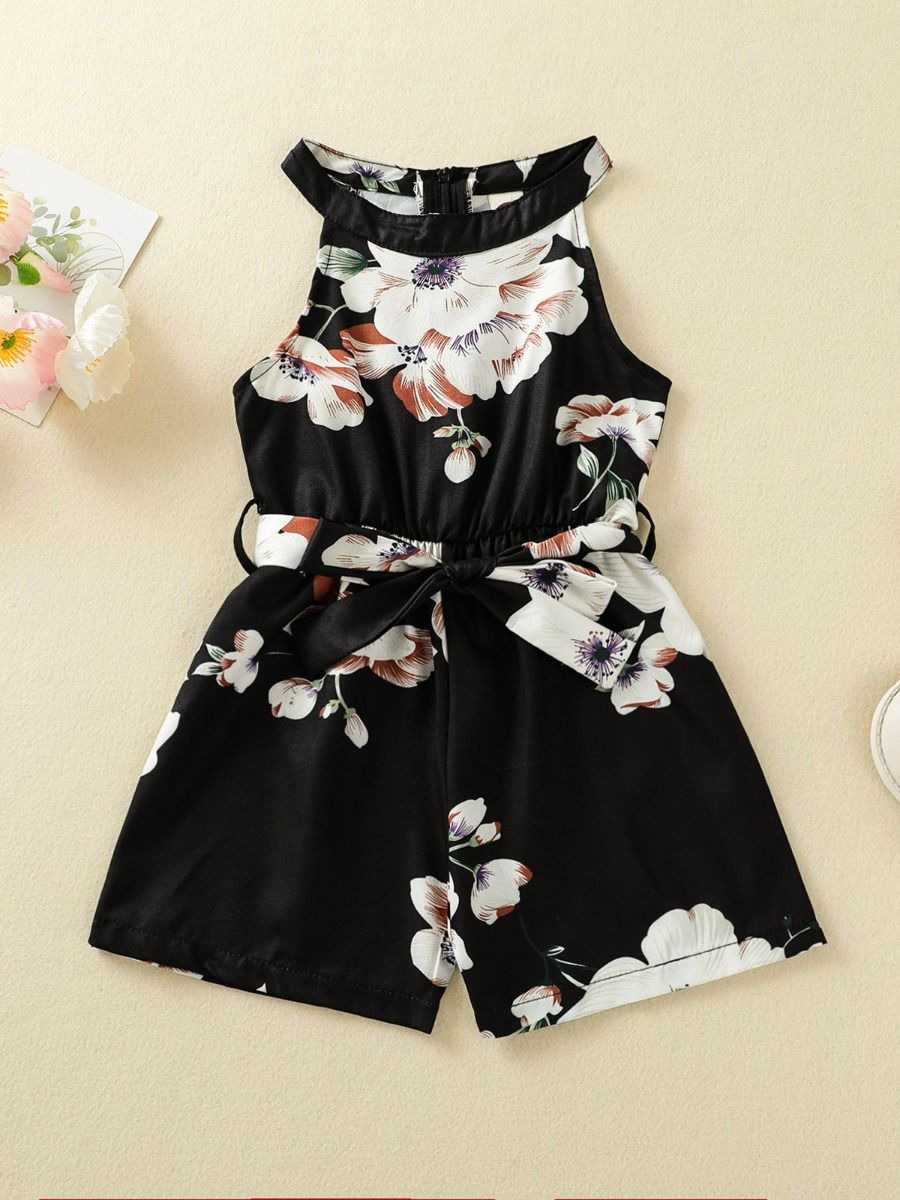 floral print romper for baby girl