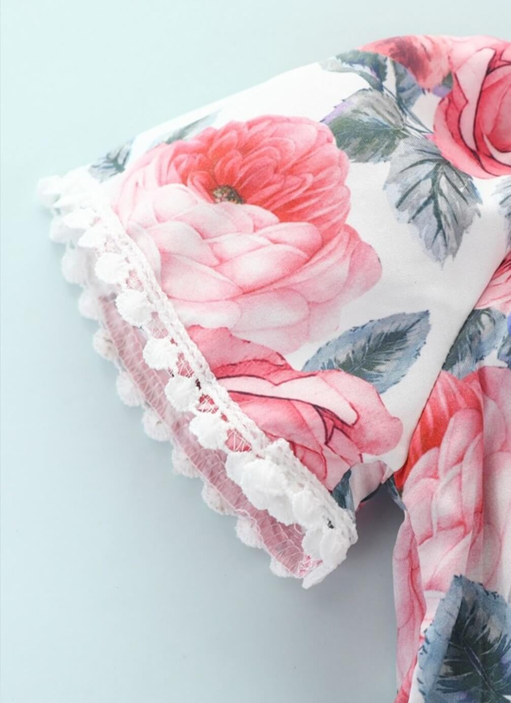 floral print set for baby girl