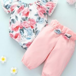 floral print set for polyester material