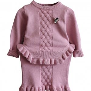 girl two piece knit set