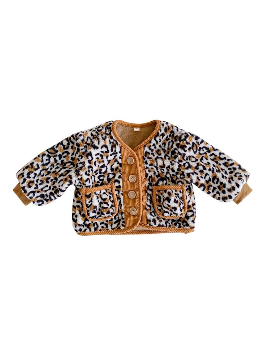 girls leopard coat 3 to 4 years