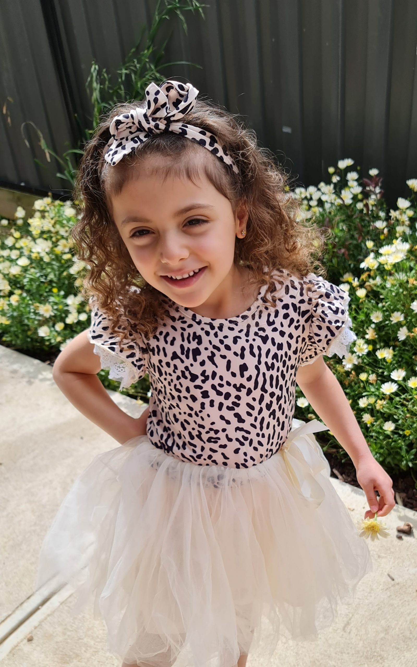 girls summer leopard dress for 3 to 4 years