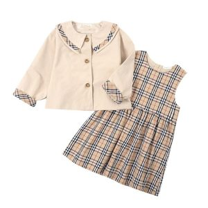 girls two piece plaid outfit