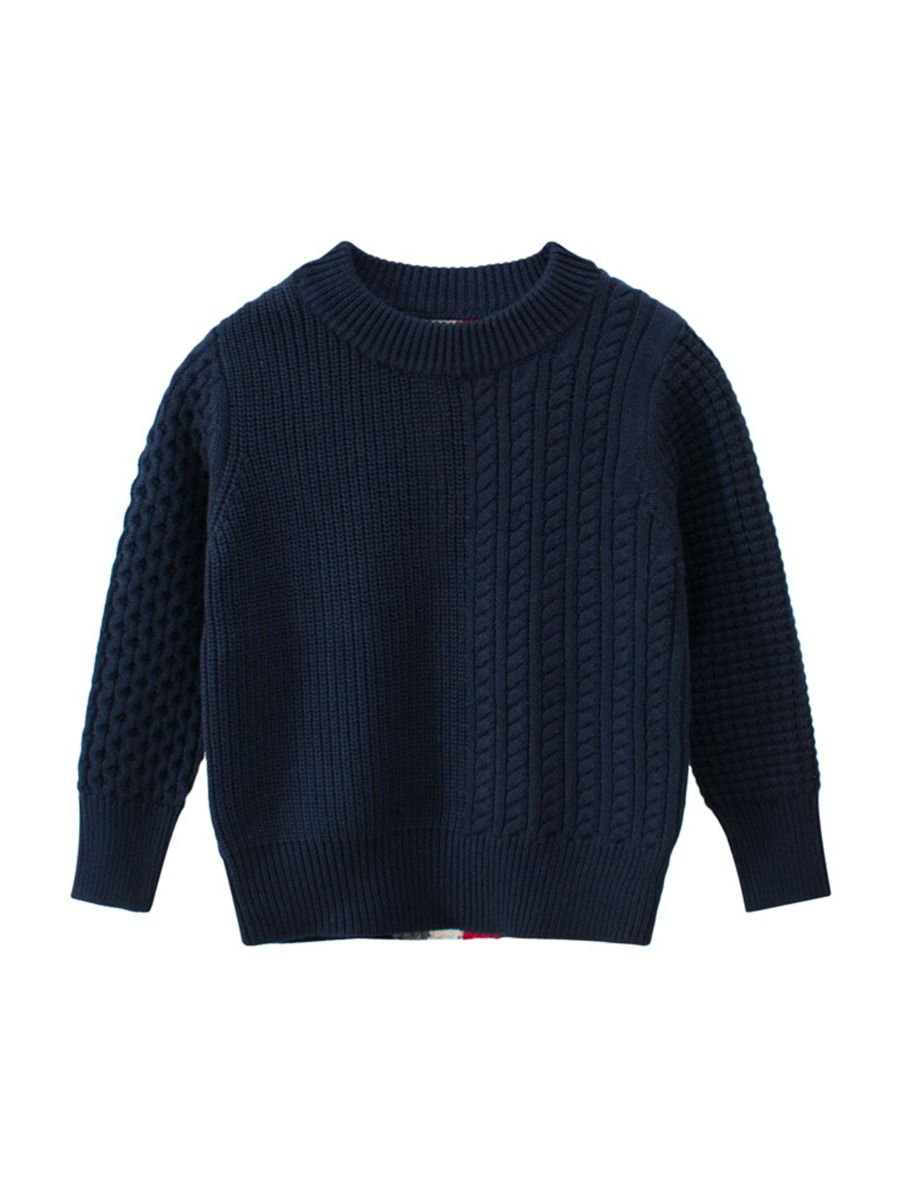 knit stripe pullover for baby boy
