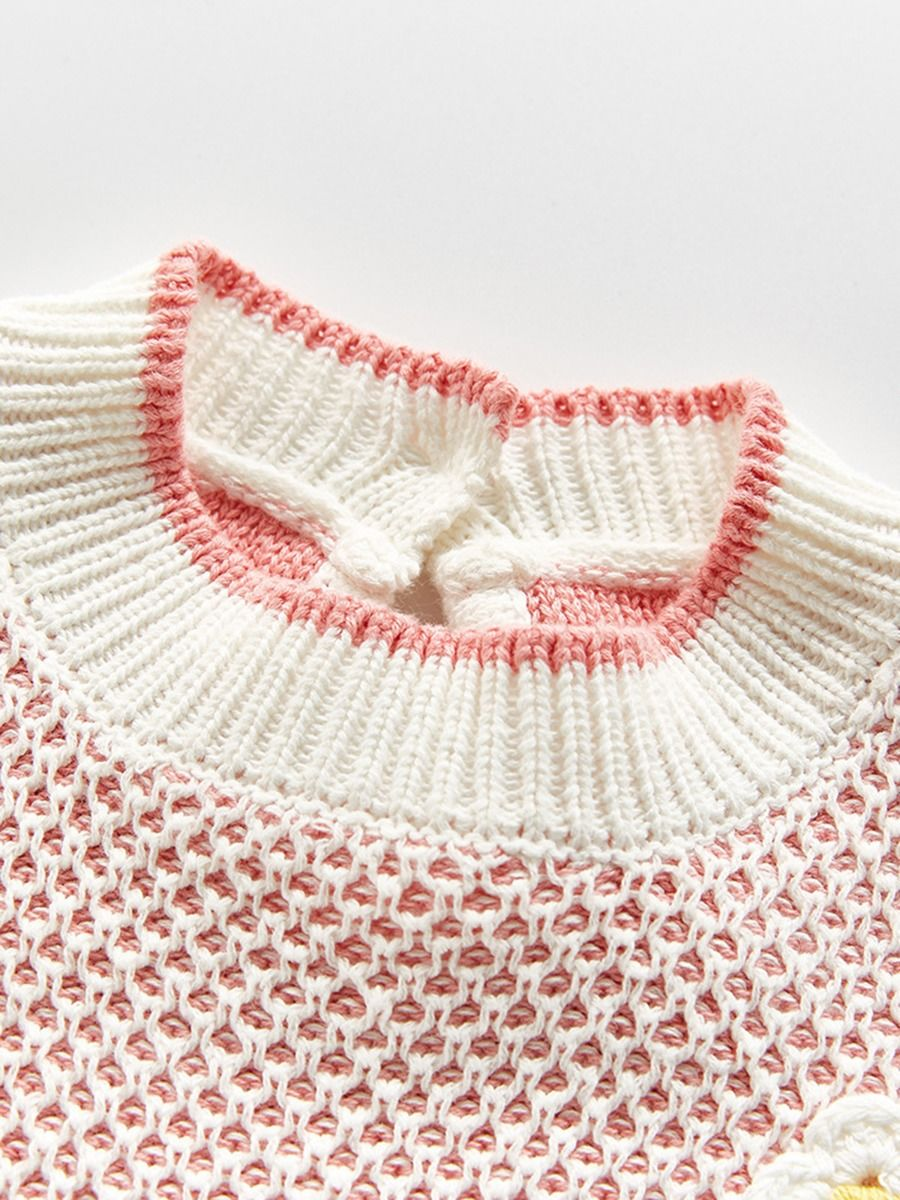 knitted long sleeve cardigan for baby girl