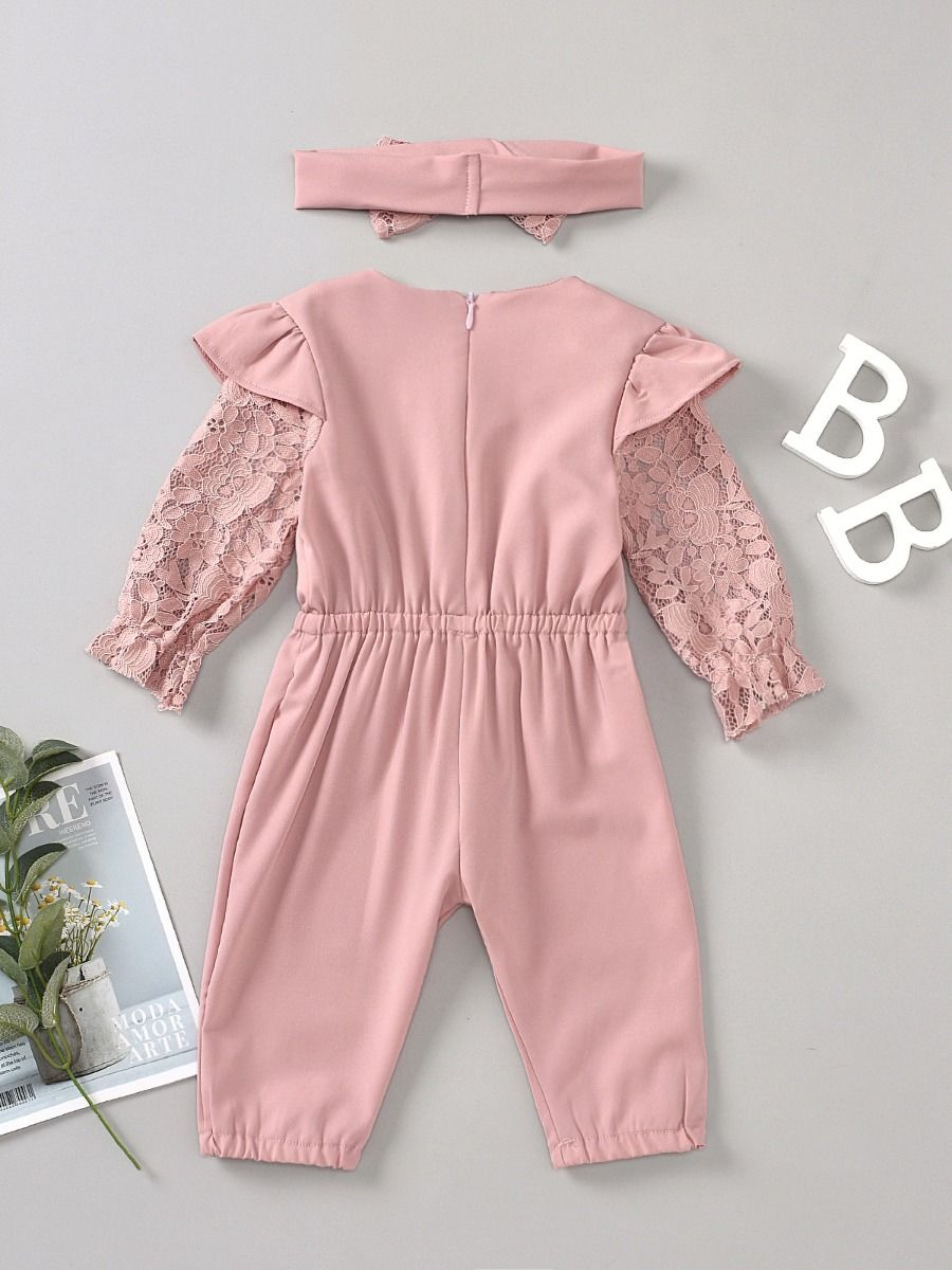 lace sassy jumpsuit 12 to 18 months