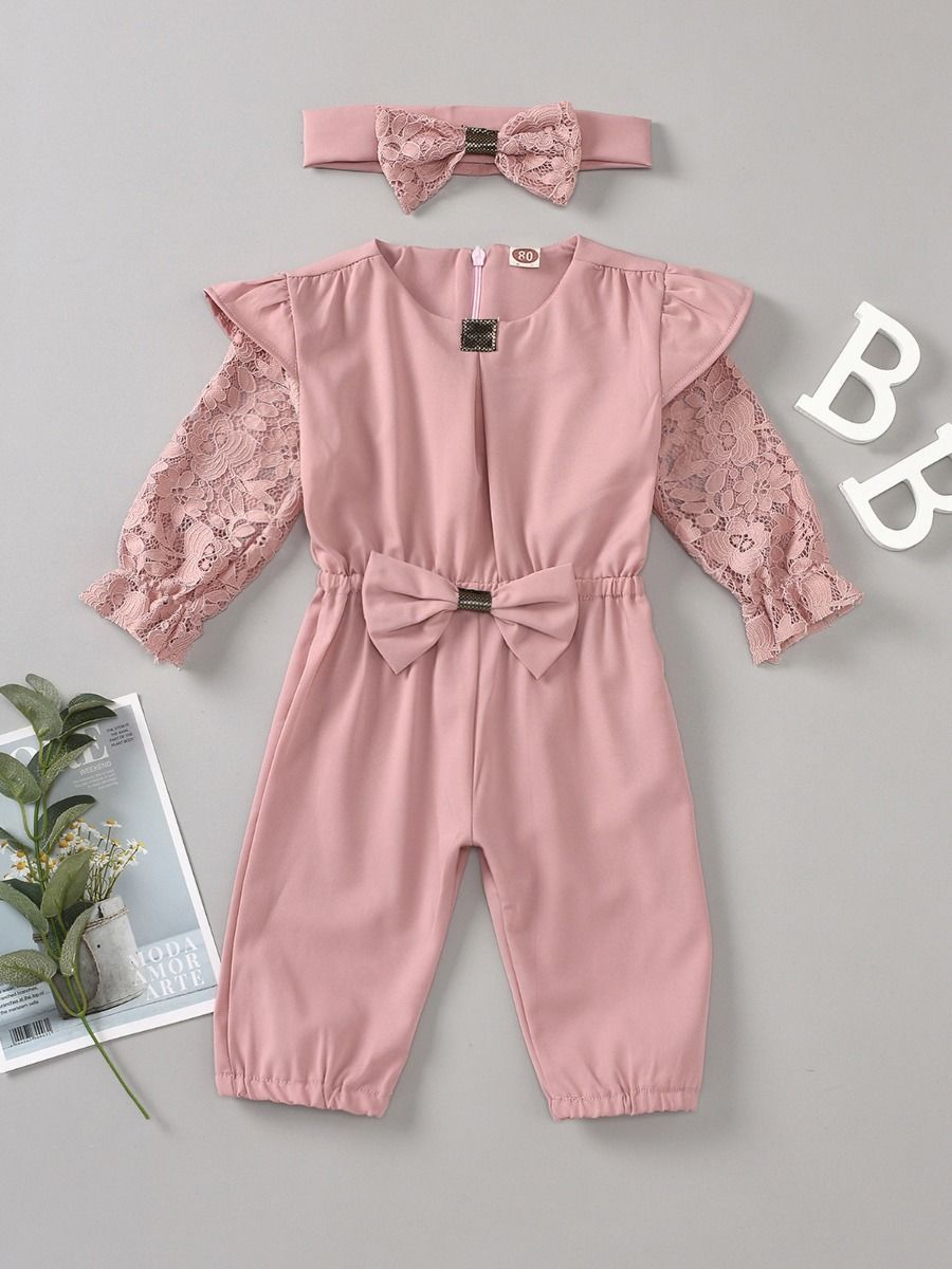 lace sassy jumpsuit 3 to 6 months