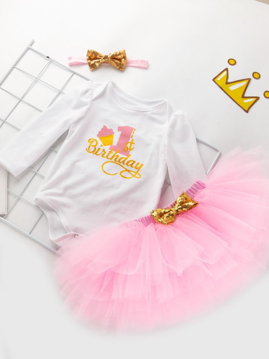 pink color with Cotton set for baby girl