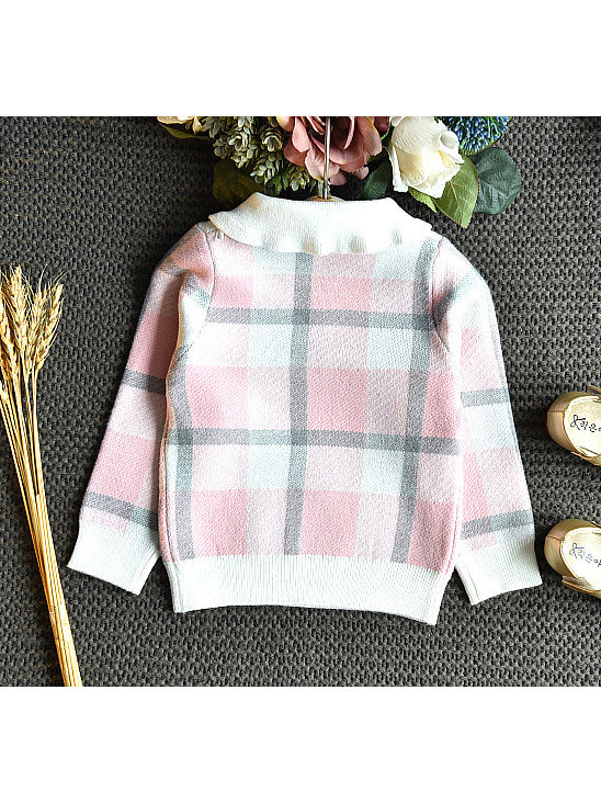 plaid winter outfit for baby girl