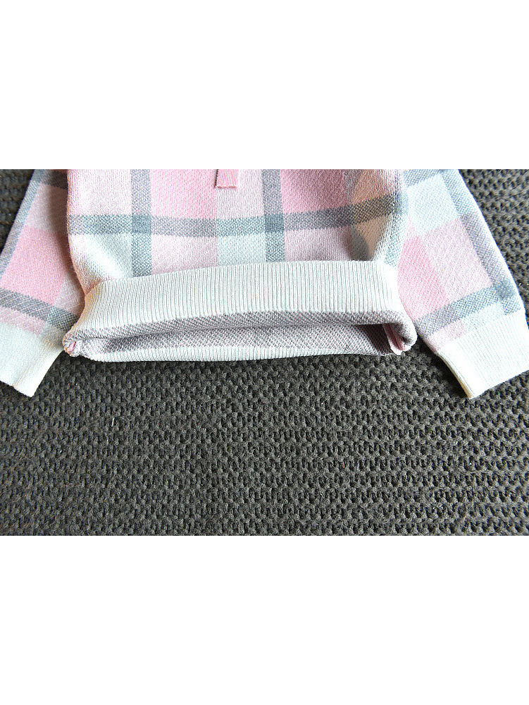 plaid winter outfit two piece set for baby girl