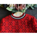 red black two piece pleated skirt and sweater outfit