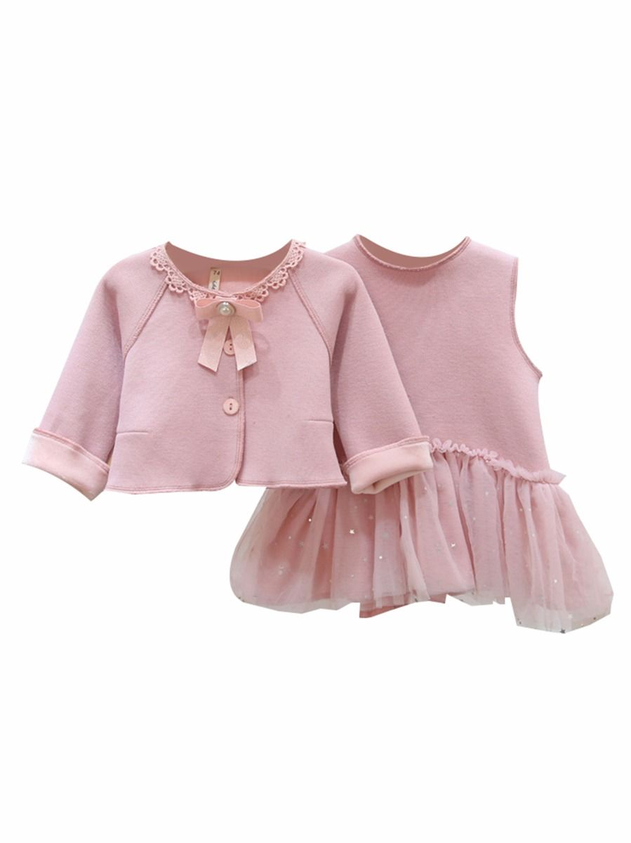 spanish style cardigan and matching tutu dress for baby girl