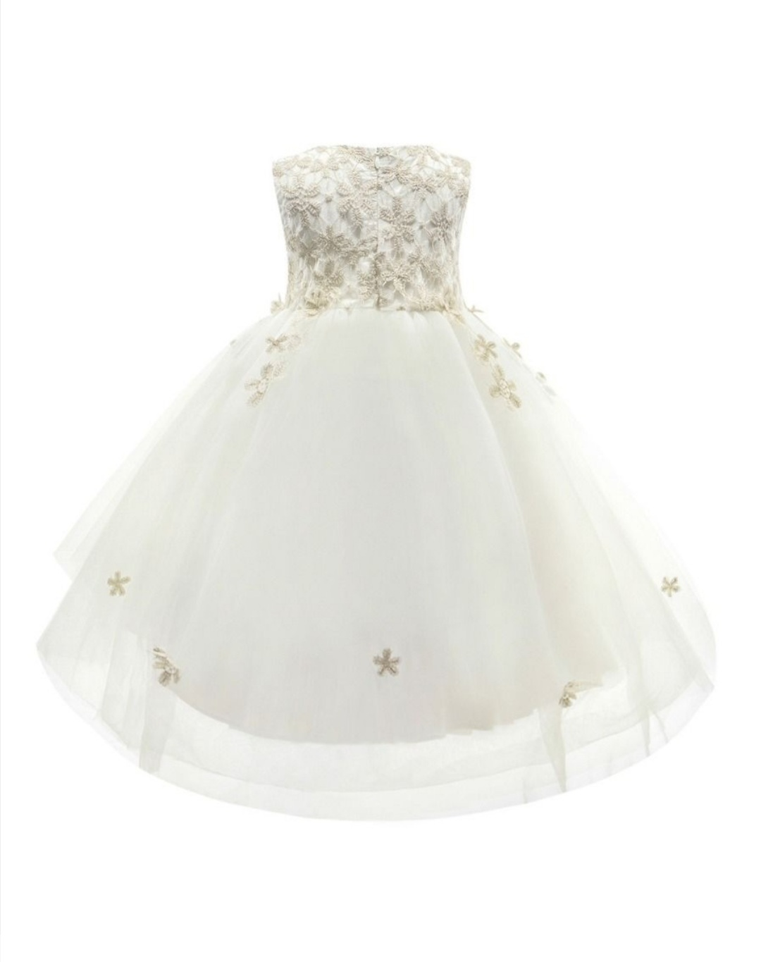 special occasion embroidery flower mesh dress 3 to 4 years