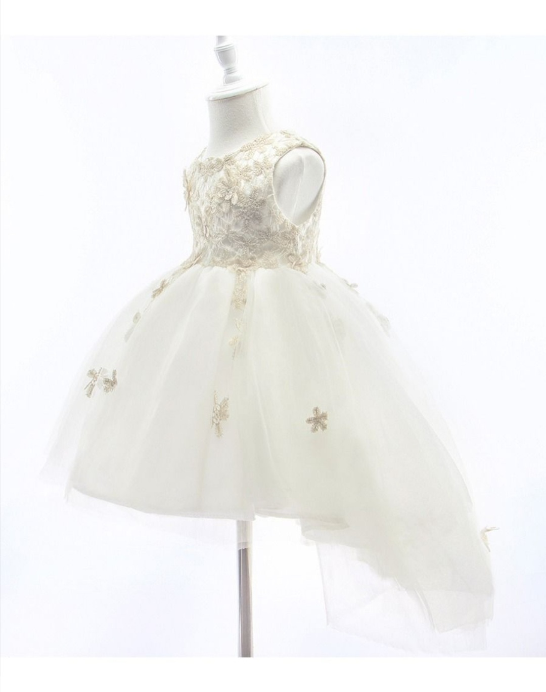 special occasion embroidery flower mesh dress 4 to 5 years