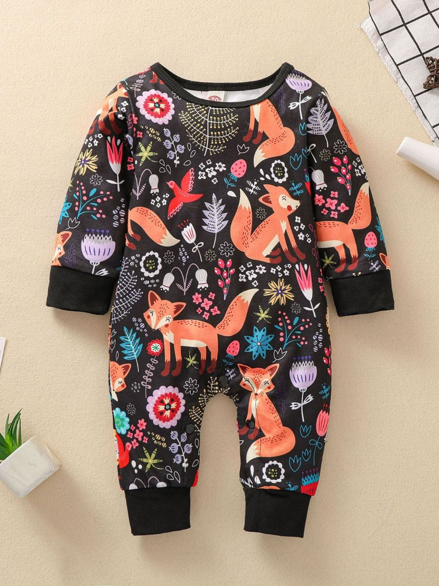 squirrel jumpsuit for baby girl
