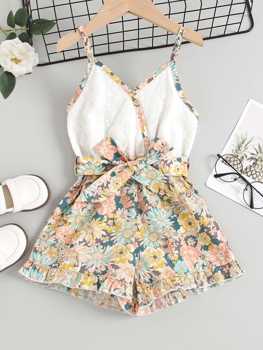summer floral romper for 2 to 3 years