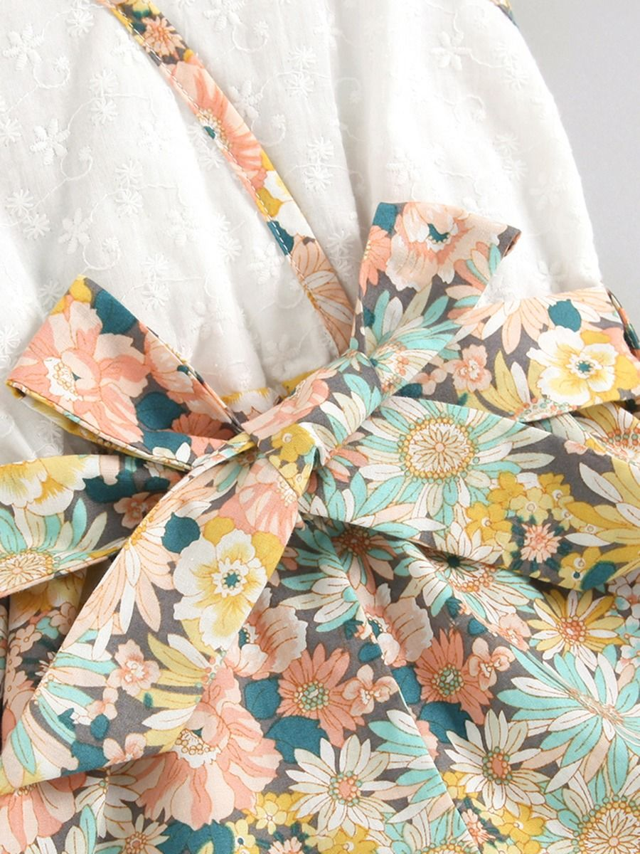 summer floral romper for 5 to 6 years