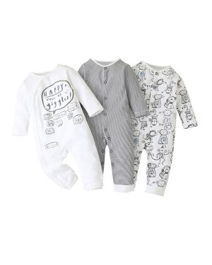 three pack romper for baby boys 12 to 18 months