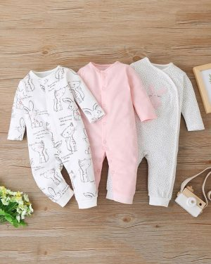 three pack romper for baby boys 6 to 9 months
