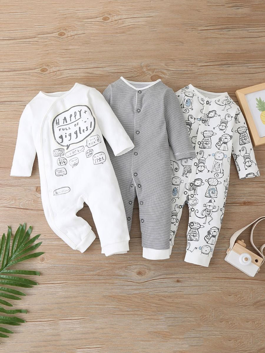 three pack romper for baby boys 9 to 12 months