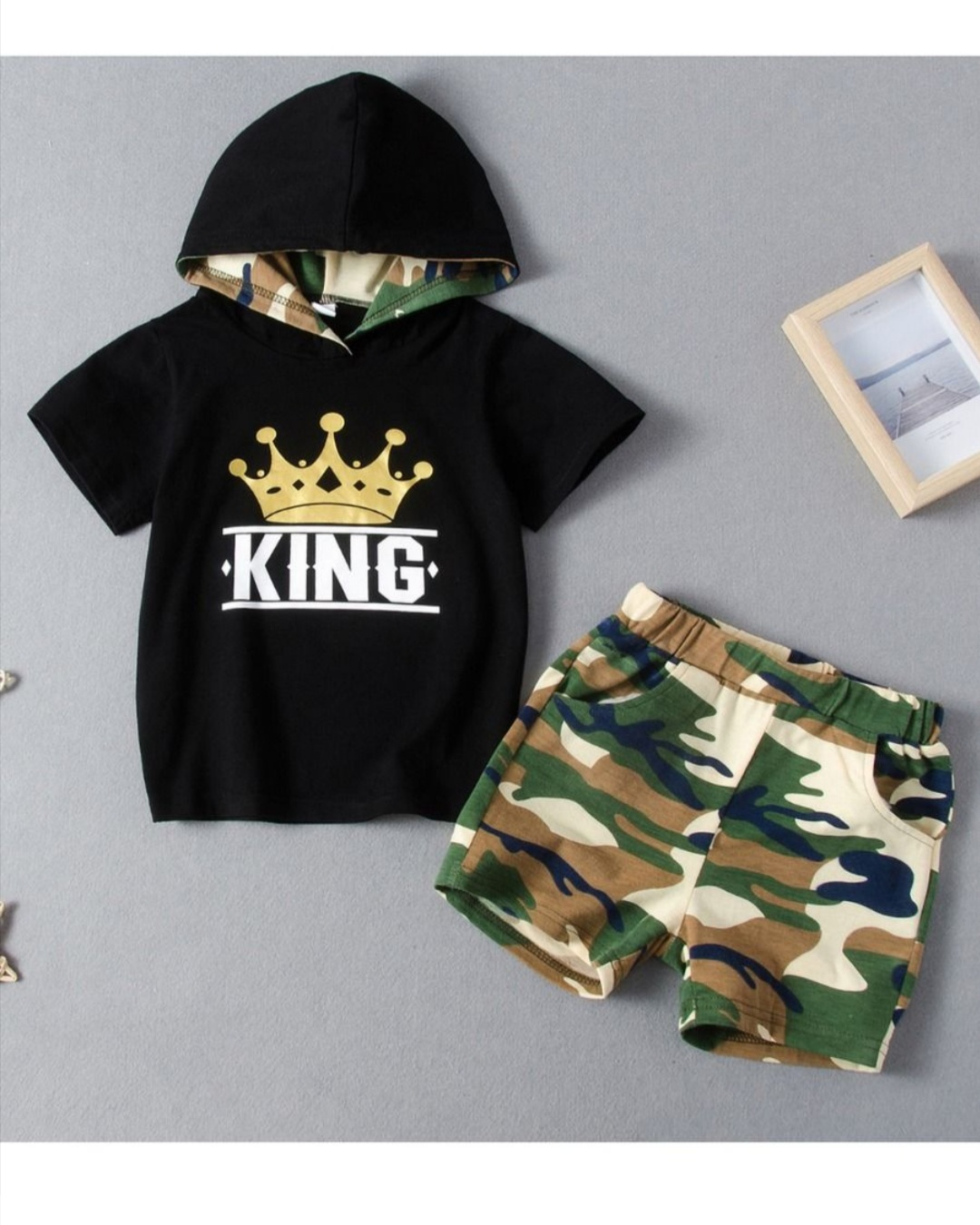 two piece king camouflage set