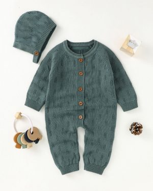two piece knitted romper