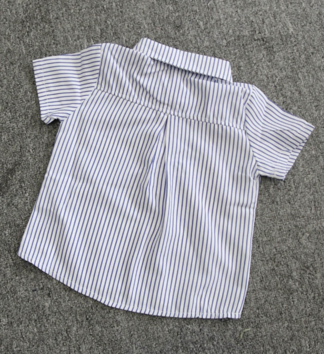 two piece summer casual outfit stripe shirt for 2 to 3 years