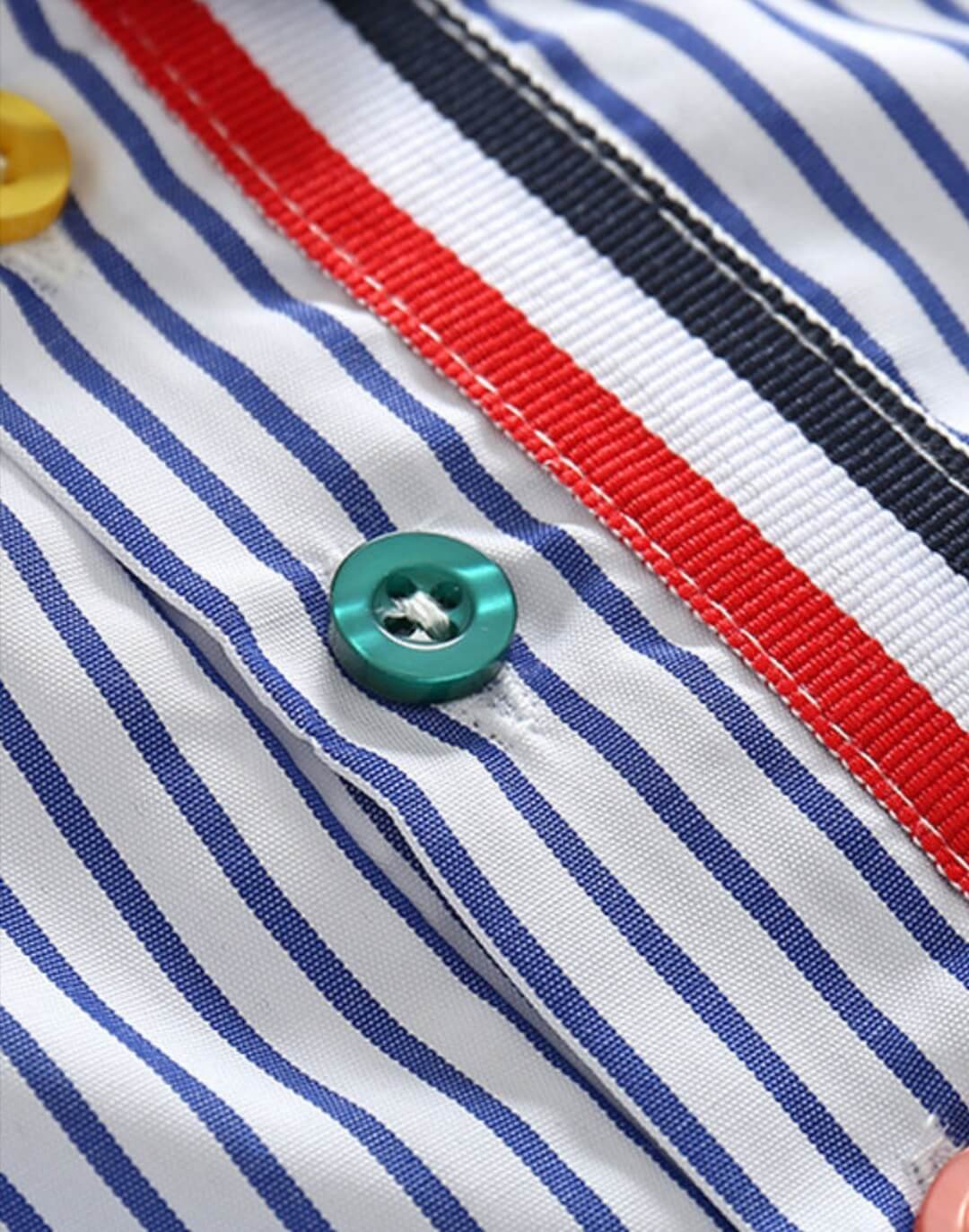 two piece summer casual outfit stripe shirt for boys
